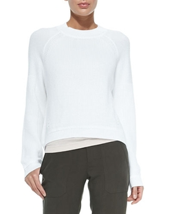 Vince - Engineered Rib-Knit Sweatshirt