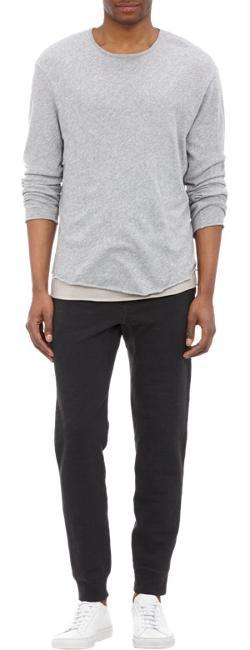 Rag & Bone - Raw-Edge Long-Sleeve T-Shirt