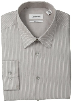 Calvin Klein  - Regular-Fit Striped Button-Front Shirt
