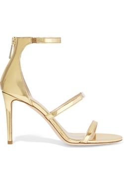 Tamara Mellon  - Horizon Mirrored Leather Sandals