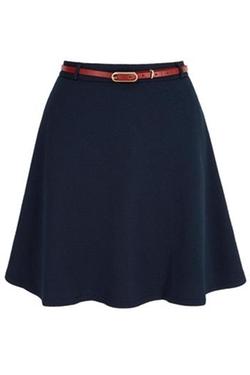 Yumi - Embossed Skater Skirt