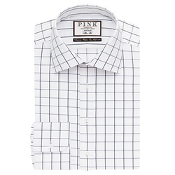Thomas Pink - Edward Check Slim Fit Button Cuff Shirt