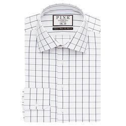 Thomas Pink - Edward Check Slim Fit Button Cuff Shirt