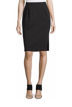 Eileen Fisher - Ponte Pencil Skirt w/ Side Slit