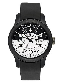 Fortis - Flieger Cockpit Stainless Steel & Rubber Watch