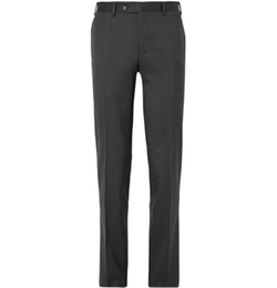 Canali   - Slim-Fit Stretch-Wool Trousers