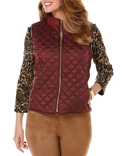 Rafaella Petites - Quilted Zip-Front Vest