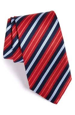 J.Z. Richards  - Stripe Woven Silk Tie