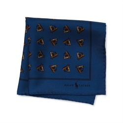 Ralph Lauren - Horse-Print Silk Pocket Square
