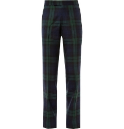 Kingsman   - Black Watch Tartan Wool Trousers