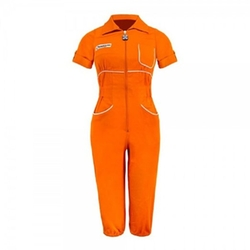 Portal - Portal Aperture Laboratories Orange Chell Romper