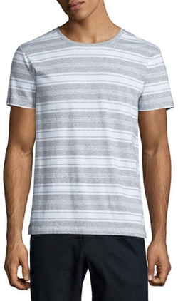 Vince - Jaspe Striped Short-Sleeve T-Shirt