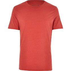 River Island - Red Crew Neck T-Shirt