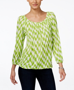 Michael Kors - Printed Peasant Top