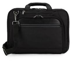 Kenneth Cole Reaction - Leather-Trimmed Shoulder Briefcase