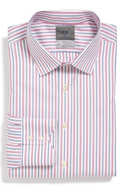Thomas Dean - Non-Iron Stripe Dress Shirt