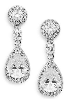 Saks Fifth Avenue - Pavé Halo Teardrop Earrings
