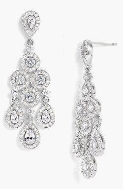 Nadri  - Framed Chandelier Earrings