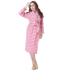 Richie House  - Plush Soft Warm Fleece Bathrobe Robe