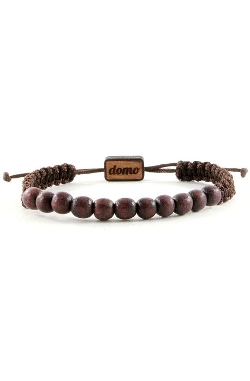 Domo Beads - Wood Beaded Retractable Bracelet