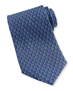Ferragamo  - Interlock-Gancini Woven Tie
