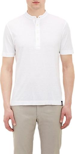 Drumohr - Slub Weave Henley Shirt