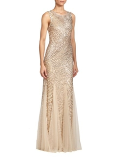 Aidon Maddox - Sequined Godet Gown
