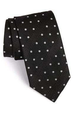 Boss - Stripe & Dot Silk Tie