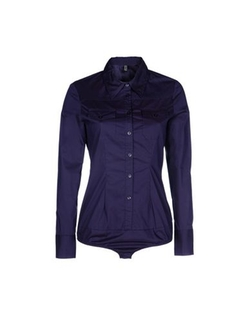 Only - Button Bodysuit Shirt