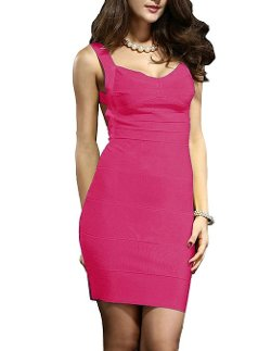 Kattee  - Sexy Backless Stretch Elastic Knitted Bandage Dress