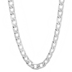 Thug Fashion - White Gold Cuban Link Chain Necklace