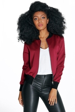Boohoo  - Alice Scuba Zip Detail Bomber Jacket
