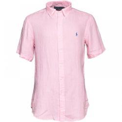 Trendy Ralph Lauren  - Mens Custom Fit Linen Shirt Pink