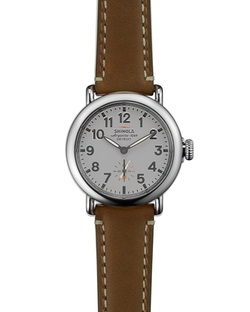 Shinola - The Runwell Brown Leather Strap Watch
