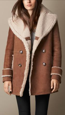 Burberry - A-Line Shearling Coat