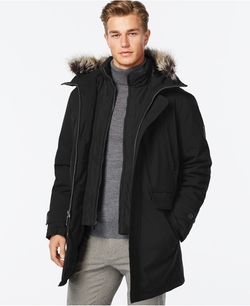London Fog - Bib Hooded Snorkel Coat