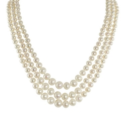 JC Penney - Pearl Graduated 3-Strand Necklace