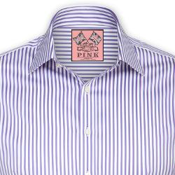 Thomas Pink - Algernon Stripe Shirt - Double Cuff