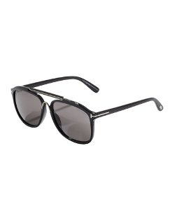 Tom Ford	  - Cade Plastic Aviator Sunglasses