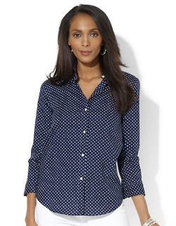 Lauren Ralph Lauren  - Polka-Dot Button Down Shirt