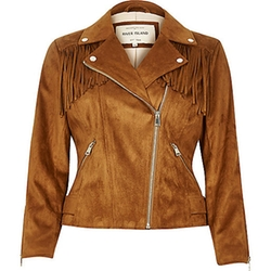 River Island - Fringed Faux Suede Jacket