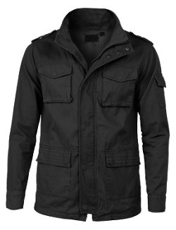 LE3NO - Zip Up Jacket With High Collar