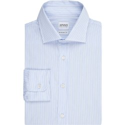 Armani Collezioni -  Pinstripe Poplin Shirt
