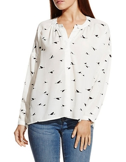 Two By Vince Camuto  - Crane Flight Splitneck Peasant Blouse