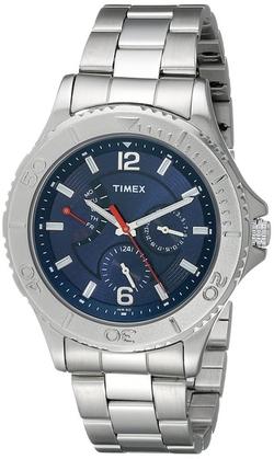 Timex - Ameritus Silver-Tone Retrograde Bracelet Watch