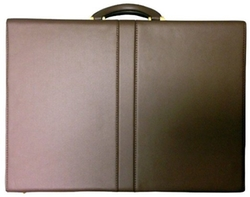Winn - Top Grain Extended Edge Leather Attache Case