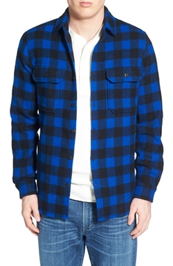 Woolrich  - Buffalo Plaid Wool Blend Flannel Shirt