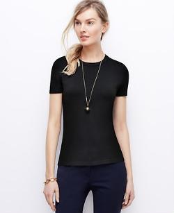 Ann Taylor - Petite Silk Cotton T-Shirt