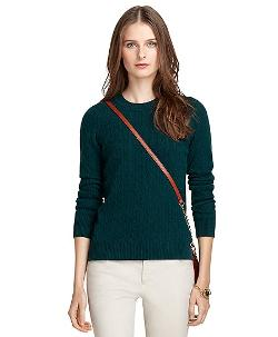 Brooks Borthers - Crewneck Cable Knit Cashmere Sweater