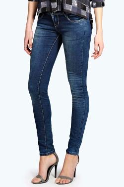 Boohoo - Lottie Low Waist Skinny Jeans